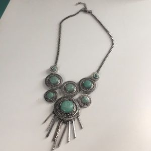 Mint turquoise statement necklace new